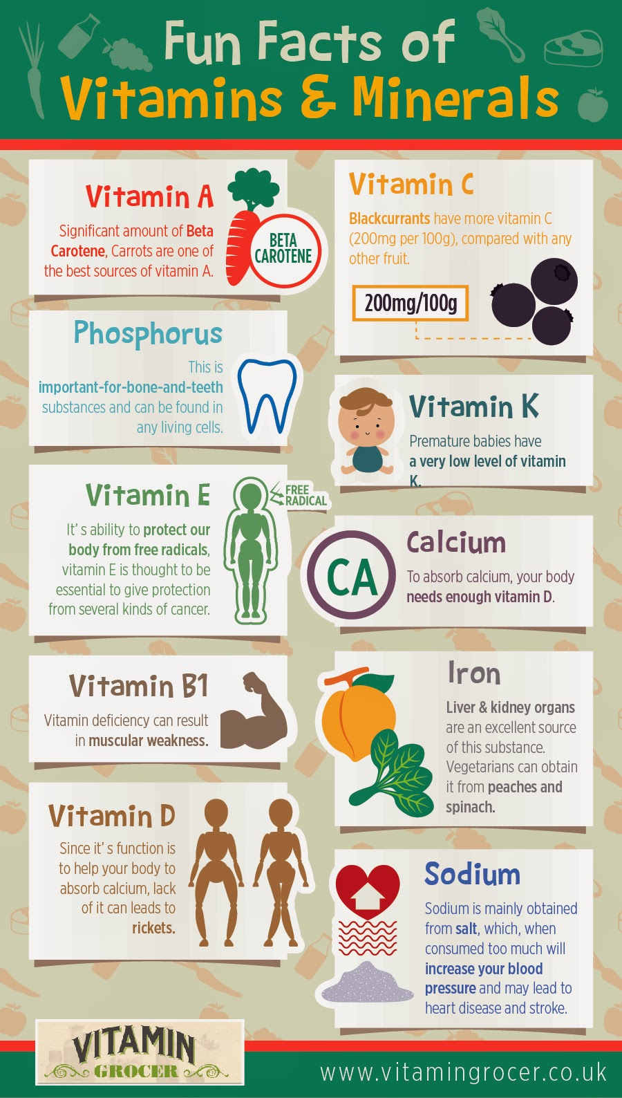 Fun Facts of Vitamin and Mineral - Nerdgraph InfographicsNerdGraph ...